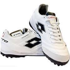 Lotto - Zapatillas de fútbol sala de Material Sintético para niño Blanco Bianco