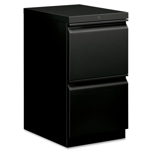 (HON Brigade Standard Height Pedestal - 15quot; x 19.9quot; x 28quot; - 2 x File Drawer(s) - Security Lock - Black )