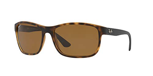 Ray-Ban RB4301L Polarized Sunglasses, Matte Havana / Dark Brown, 62 mm