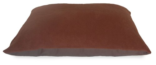 NAP Pet Bed Terry and Oxford Pet Pillow Bed, Espresso, 35-In