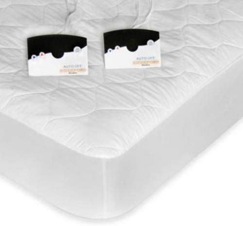 Biddeford 5203-505222-100 Quilted Skirt Electric Heated Mattress Pad Natural King
