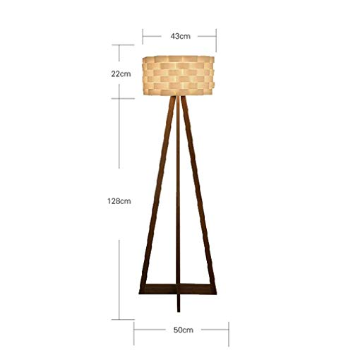 (XQY Home Floor Lamp, Floor-Standing Reading Led, Simple Modern Bedroom Floor Lamp Woody Tripod Creative Study Standing Lights Living Room Lamps and Lanterns Eye Protection Vertical Table Lamp )