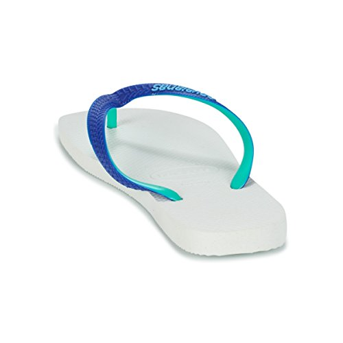 Havaianas Top Mix, Chanclas Unisex Adulto White Marine Blue