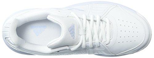 Scarpa Da Tennis Adidas Da Donna, Bianco / Gesso Corallo / Argento Metallizzato, 5,5 M Us Bianco / Blu / Bianco