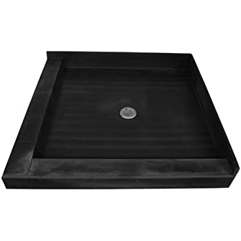 Tile Redi 4848CDL-PVC Shower Pan 48x48 Double Threshold with Integrated Center PVC Drain