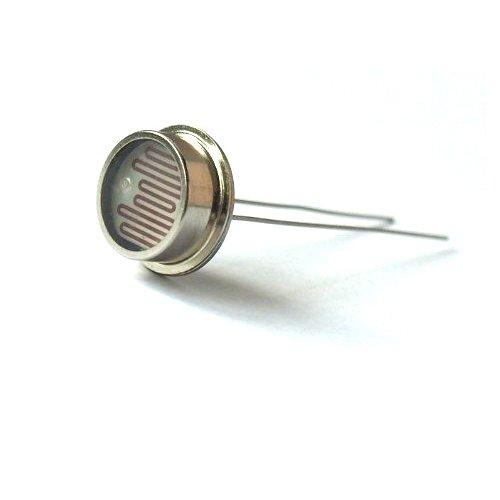 5pcs Photoresistor Photoconductive Cell Light Dependent Resistor 80-150K LDR 12mm Metal Pacakge