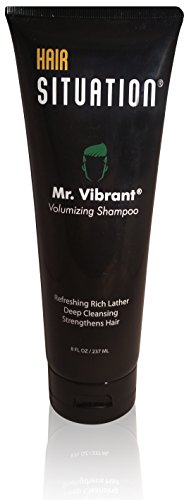 Mens Shampoo –Volumizing,Deep Cleansing, Hair Strengthening & Nutrient-Rich Formula: With Biotin (Vitamin H), Vitamin E, B5 & B6, Tea Tree Oil & More. Free of Sulfates & Parabens Mr. Vibrant