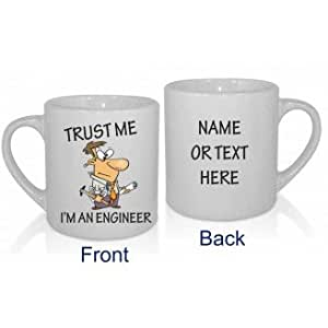 Trust Me I 'm ingeniero taza personalizada