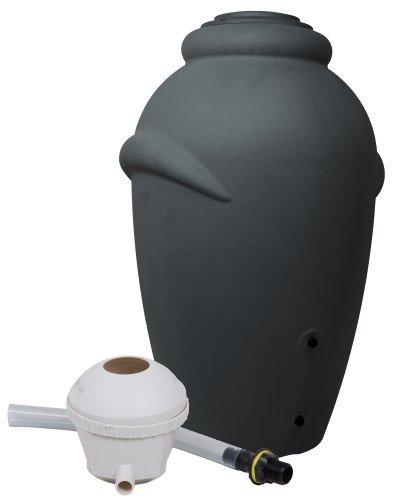 Regenwassertonne Wasserbehälter Amphore Anthrazit 360L mit Füllautomat