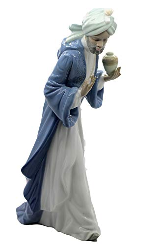 Nao by Lladro Collectible Porcelain Figurine: KING BALTHASAR WITH JUG - 11-1/4