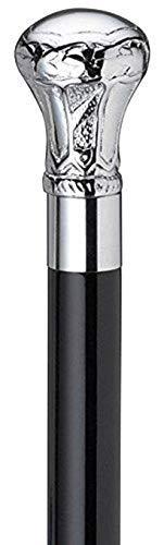 (AnNafi Bat Masterson Cane Replica| Pewter Brass Handle Unisex Derby Cane |Decorative Defense Victorian Walking Sticks for Men | Lightweight Classic Walking Stick|)