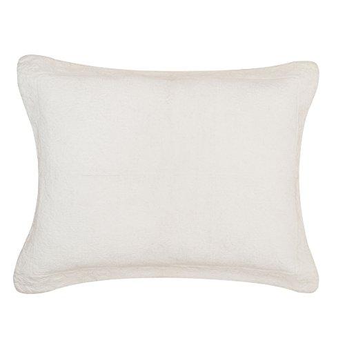 - C&F Home Matelasse Cotton Quilt, Standard Sham 21x27, Jacqueline Cream