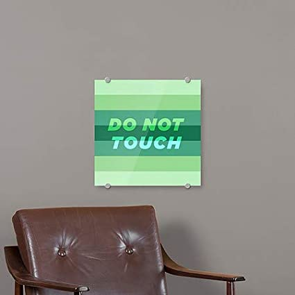 16x16 5-Pack CGSignLab Modern Gradient Premium Brushed Aluminum Sign Do Not Touch