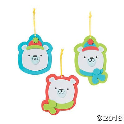 (Fun Express - Polar Bear Ornament Craft Kit - Christmas Item for Boys and Girls of All Ages - Great for the)