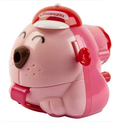(Pencil Sharpener Dog Type Children's Present (pink))