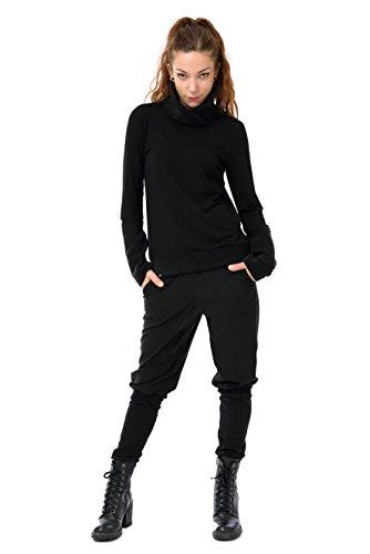 Black Fleece de Made In Sweater larga Mujer Sweatshirt Berlin Camiseta Winter 3elfen manga zqwx5IXaY