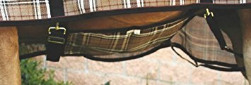 Kensington Belly Band For Horse Under Belly - Protects Under Belly When Attached to Traditional Cut Protective Sheet - Offers Maximum Protection Year Round - Deluxe Red Plaid ()