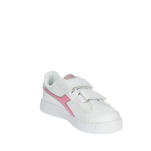 In P 101173339 Game 50145 Baby Scarpe Bianca Diadora Pelle Td rose 01 Sneaker Blanc YTpWq