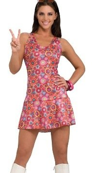 Psychedelic Go Go Dress Costume Adult OSFM NIP ()