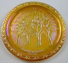 - Indiana Glass Spirit of 76 Amber Carnival Glass Plate