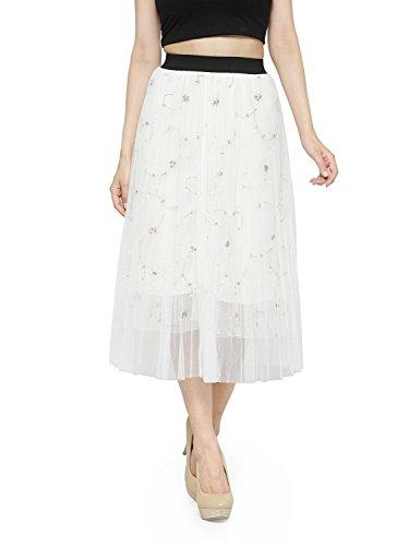Handicrfats Net White Export Long Skirt Indian Flared w8tq0xwd