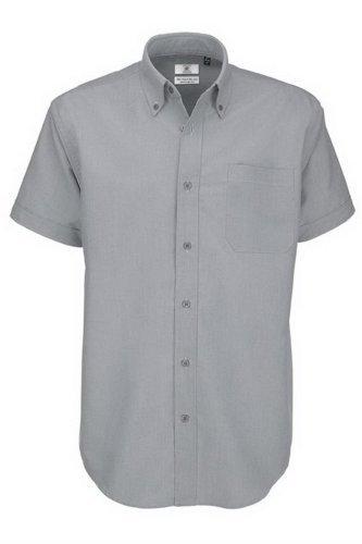 Chemise à manches courtes B&C pour homme small Argent - Silver Moon