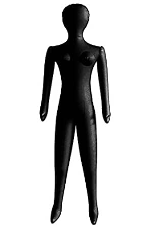 Inflatable Black Female Blow Up Costume Mannequin