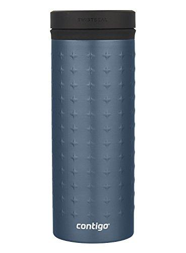 Contigo Vaccum-Insulated Stainless Steel TwistSeal Glaze Travel Mug, 16 oz, Stormy Weather