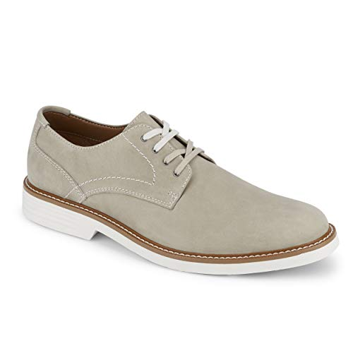 (Dockers Mens Parkway Leather Dress Casual Oxford Shoe with NeverWet, Grey, 10.5 M)