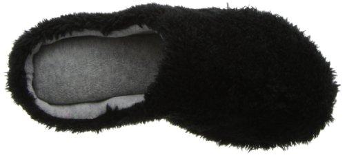 Dearfoams Womens Fluffy Terry Clog Black ZYi3P6