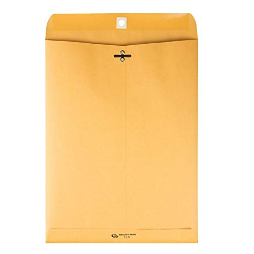 Quality Park 9 x 12 Clasp Envelopes with Deeply Gummed Flaps, Great for Filing, Storing or Mailing Documents, 28 lb Brown Kraft, 250 per Box (37590) by Quality Park