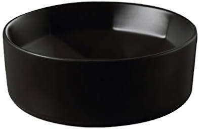 WJ 洗面台 バスルームの洗面台、(タップ無し)対流域レトロ単純な技術バニティ単一流域上記マットブラックセラミック、40X40X14.5 /-/ (Size : 40X40X14.5)