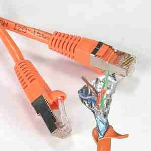 2Ft Cat.5E シールドパッチケーブル 成形 オレンジ   B00PEMXW68