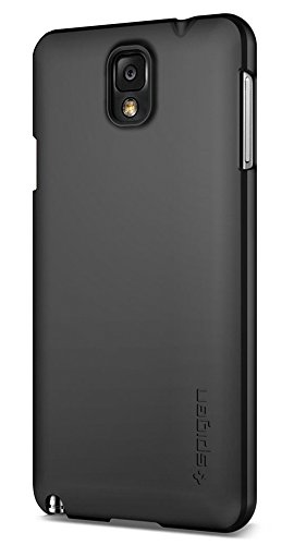Price comparison product image Spigen Ultra Fit Galaxy Note 3 Case with Rubbery Fell Non Slip Grip Matte for Galaxy Note 3 - Smooth Black