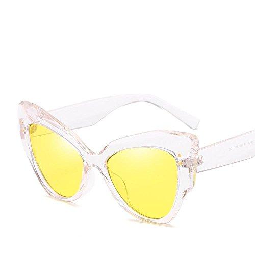 de Unidos Hombre Axiba de con Moda de Gafas de Tendencias Mujer A Sol Las Europa Regalos Gafas Gato Estados Retros arroz y Sol de Ojo creativos uñas Sol Las Gafas de q1zaq