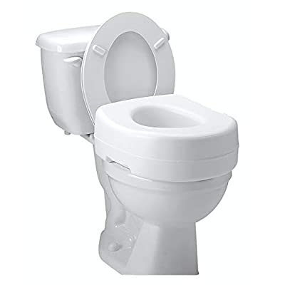 Carex Toilet Seat Riser – Adds 5 Inches of Height to Toilet – Raised Toilet Seat With 300 Pound Weight Capacity – Slip-Resistant
