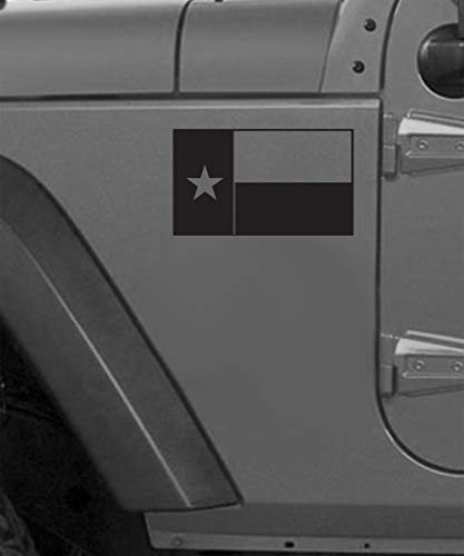 Texas Flag Vinyl Decal (Gloss Black) 1 Left 1 ()