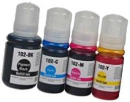 Set] 4 Cartuchos de Tinta compatibles para EPSON EcoTank ET-2700 ...