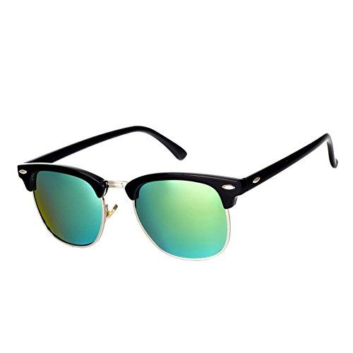Pro Acme Classic Semi Rimless Polarized Sunglasses with Metal Rivets
