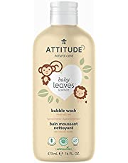 ATTITUDE Bubble Bath and Body Wash for Baby, EWG Verified, Plant- and Mineral-Based Ingredients from Natural Sources, Vegan and Cruelty-free, Pear Nectar, 473 mL