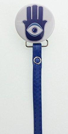 Amazon.com: Hamsa Clip para chupete con Matching Color Azul ...