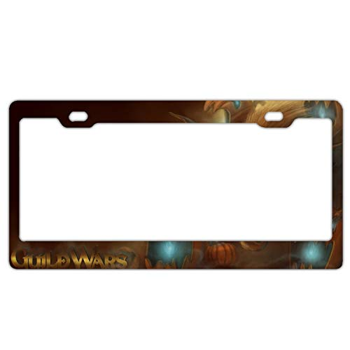 GGRGVR Newest 2 Holes Aluminium Holiday Halloween Guild Wars License Plate Frame
