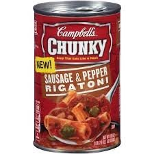 Campbell\'s, Chunky Soup, Sausage & Pepper Rigatoni, 18.8oz Can (Pack of 6)