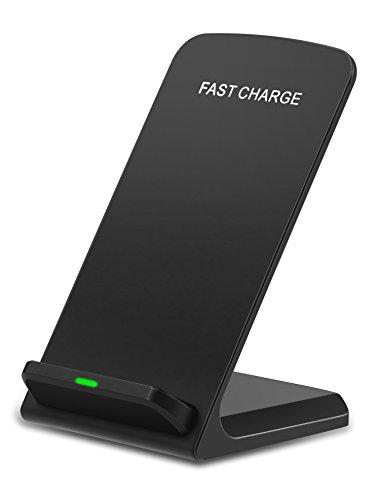 Fast Wireless Charger, NANAMI 2 Coil Qi Ladegerät Drahtloses Induktive Schnellladestation für Samsung Galaxy S6 Edge Plus / S7 / S7 Edge / Note 5