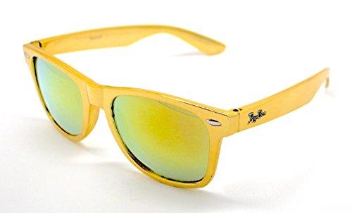 de UV Calidad Wayfarer Gafas Oro Sunglasses Sol Mujer Alta 400 Hombre Dorado fYCwdqX
