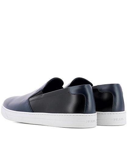 on Slip Herren Prada Leder Blau 4D31753F08F0HDP Schwarz Sneakers xZ4xwAaqX