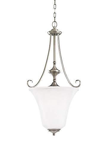 Sea Gull Lighting 51380EN3-965 Parkview Pendant, 3-Light LED 28.5 Total Watts, Antique Brushed Nickel