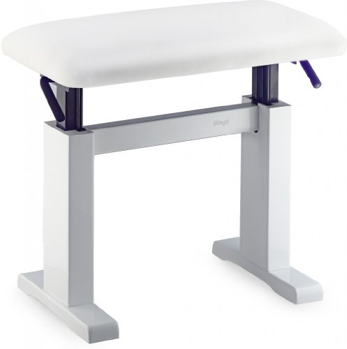 Stagg PBH 780 WHP SWH Hydraulic Piano Bench - White