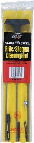 Hoppe's Bench Rest 3-Piece Stainless Steel Cleaning Rod, Universal Rifle/Shotgun - Hoppes Cleaning Rod
