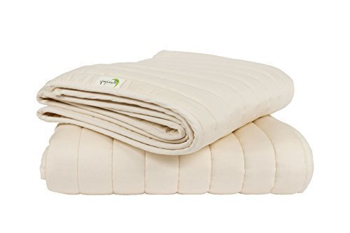Greenbuds Organic Cotton Crib Comforter with Wool Fill. Ultra Soft Wool Crib Blanket, Toddler Comforter by Greenbuds